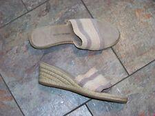 womens studio works maddie mutli colored weaved band wedge heels shoes size 8