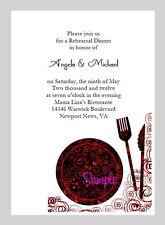 20 Personalized Custom Damask Rehearsal Dinner Bridal Wedding Invitations