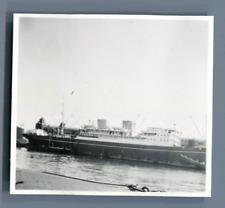 "Danmark, Kobenhavn, Ship ""M/S Europa"" Vintage silver print.  Tirage argentique"