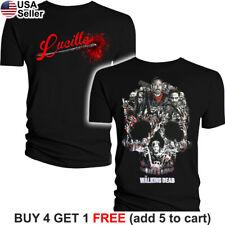 The Walking Dead T-Shirt Negan Lucille Bat Saviors AMC TWD Glenn Rick Daryl Carl