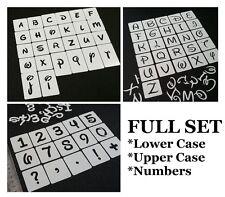 Disney Style Minuscules Majuscules Lettres Numéro Stencils Set individuels réutilisable