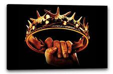 Lein-Wand-Bild: Game of Thrones Hand hält Krone des Königs hoch Stark