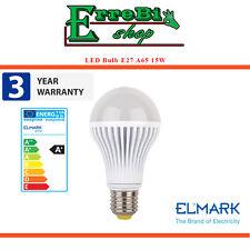 LAMPADINA A LED E27 A65 15W 2700K LUCE CALDA 1200LM LAMPADA LIGHT BULB ELMARK