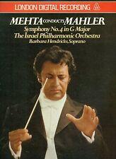 MEHTA CONDUCTS MAHLER SYMPHONY NO.4 BARBARA HENDRICKS LONDON DIGITAL LP (L8343)