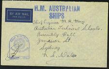 AUSTRALIA 1943 H.M. AUSTRALIAN SHIPS PAQUEBOT CENSORED