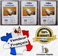 Carte mémoire SAMSUNG 16 32 64 Go Gb Giga Micro SDHC SDXC Série EVO UHS-I UHS-1