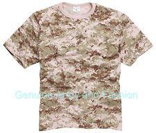 Nuevo Combate Militar Ejército Americano de EE. UU. estilo Camiseta nos Desierto Digital XS-3 XL