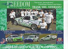 2012 FREEDOM  MOTORSPORTS GRAND-AM CONTINENTALTIRE SERIES POSTCARD