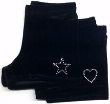 Velvet Gymnastics/Dance Shorts with Star or Heart Motif. 4 Way Stretch Velvet