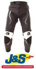 BKS Evolution Pro Leather Motorcycle Jeans Black White Track Sports Evo J&S