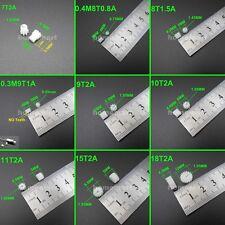 20PCS 0.5M Plastic Spur Gear 7T 8T 9T 10T 11T 12T 13T 14T 15T 16T 18T A= 1MM 2MM