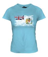 BRITISH ANTARTIC TERRITORY DISTRESSED FLAG LADIES T-SHIRT TOP FOOTBALL SHIRT