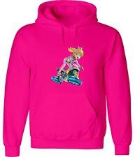 Nintendo Mario Kart Off-Road Motorcycle Princess Peach Hoodie Sweatshirt Hooded