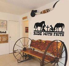 Cowboy Cowgirl Christian Wall Home Vinyl Decal