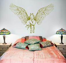 Wall Vinyl Horse Wings Pegasus Mustang Mural Vinyl Decal (z3379)