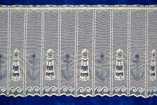Scheibengardine,Bistrogardine,Meterware,Cafehaus,Leuchtturm,Höhe 30,50+90 cm