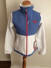 The North Face w Denali jacket White w/ Blue  NWT
