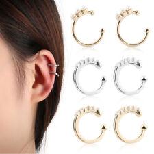 Party Ear Clip Half Circle Ear Cuff CZ Cuff Earrings No Piercing Earring Pearl