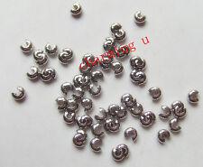 50pz  copri schiaccini colore argento  scuro 4mm lead,nickel free
