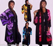u pick color kimono jacket  M L XL 1X 2X 3X 4X block print japanese art to wear