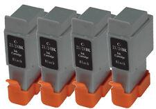 4 Black Canon BCI21-24 Compatible Ink Cartridges