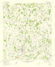Topographical Map Print - Keene Texas Quad - USGS 1963 - 23 x 28.11