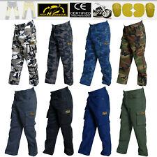 Para Hombre Pantalones Pantalones de Camuflaje Moto reforzado con fibra de Kevlar ® Dupont ™