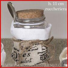 Bomboniere utili matrimonio zuccheriera tappo sughero cucchiaio prezzi bassi