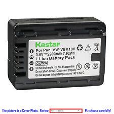 Kastar Battery Super Fast Charger for Panasonic VW-VBK180 & SDR-H100S SDR-H100R