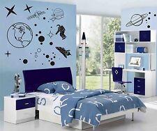 Space Thème Wall Art Stickers, Autocollants, murale, planètes, navette, astronaute, étoiles