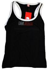 DIBK JEANS black vest women's canottiera nera donna