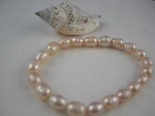 Süsswasser Perlen Armband elastisch China Zuchtperle oval
