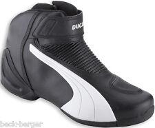 DUCATI Puma FLAT V2 BLW halbhoher Stiefel Schuhe Shoes Boots schwarz weiß NEU !!