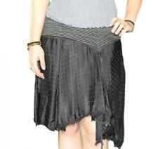 CUSTO BARCELONA Women's Alex Black A-symmetrical Skirt 693529 $236 NWT