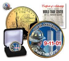 *4th Anniversary*World Trade Center 9/11 U.S.MINT New York State Quarter W / BOX