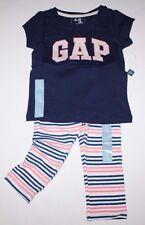 baby Gap NWT Girls Outfit Set Logo Top & Capri Leggings