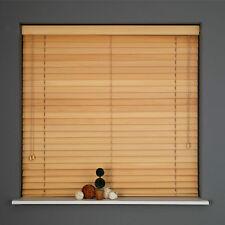 Real Hard Wood Venetian Blinds Natural 25mm Slats 60 to 180cm  LONG 210cm DROP