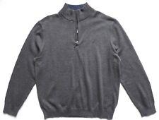Nautica Men's Quarter Zip Pullover Sweater, Grey, Size: XL