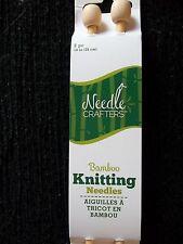 "Needle Crafters single point knitting needles, bamboo, 14"" long , 1 set"