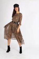 Hankey Hem Midi Dress in Leopard Print
