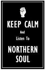 Keep Calm & escuchar Northern Soul - Artículo Imán de nevera NUEVO