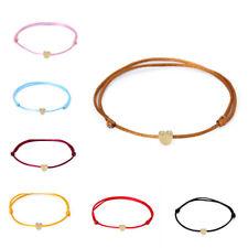 Multicolor Heart Bracelet Handmade Rope Adjustable String Lucky Bangle Jewelry