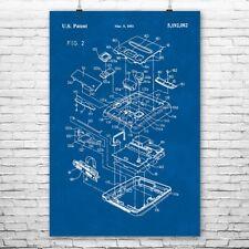 Nintendo Super Famicom Exploded View Poster Art Print Famicom Poster Gamer Gift