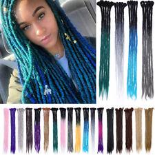 Premium Wool Handmade Dreadlocks Extensions Braids Dreads Hair Party Ombre Blue