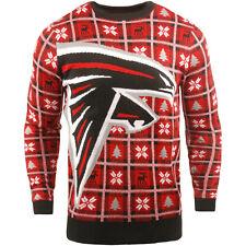 NFL UGLY Sweater Atlanta Falcons Pullover Christmas Big Logo Style Football 18