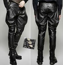 Pantalon jodhpur cuir gothique punk steampunk militaire fashion Punkrave homme