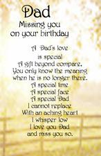 A DAD SON BROTHER GRANDAD Male Bereavement Graveside Memorial Birthday Card M11