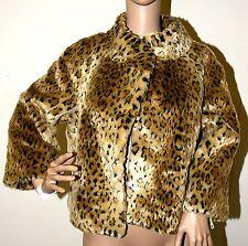 New INC International Concepts cheetah Faux Fur Leopard jacket Coat M L XL