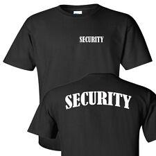Security bouncer black gildan cotton pre shrunk silk screened security T shirt