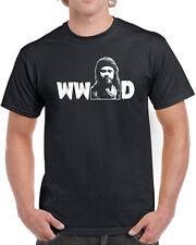 059 WWJD mens shirt would jesus do walking zombie walker dead vintage new cool